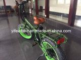 20 la bici eléctrica plegable del ciclomotor 350W del camuflaje de la pulgada con el marco anti de la aleación del moho del neumático gordo y bordea economía de energía de la carga de la distancia 120kg de los 45km que libra
