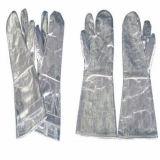Высокие - температура - упорные перчатки, сделанные из алюминиевой фольги