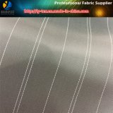 Черная/белая подкладка втулки, пряжа покрасила ткань нашивки для одежды полиэфира (S15.23)