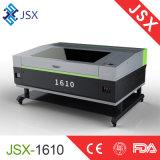 Письмо 1610 новой модели Jsx алюминиевое акриловое высекая машину лазера СО2