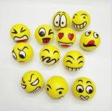 Bolas divertidas de las caras de la PU de la PU de la espuma de la bola de encargo de la tensión para el adulto