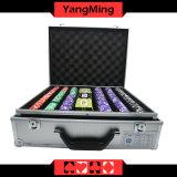 a listra 12g seriu a microplaqueta do póquer da argila com o póquer personalizado 760PCS dedicado tabela do casino da etiqueta com caixa Ym-Sghg004 das microplaquetas