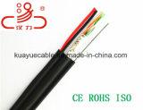 Drahtseil-/Daten-Kabel-Kommunikations-Kabel-Verbinder-Audios-Kabel des Absinken-Draht-4X2X0.5cu+1.2steel