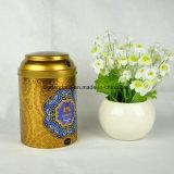 Kundenspezifischer runder Metallzinn-Kasten für Tee