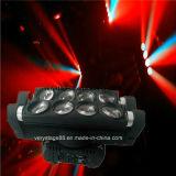 8*10Вт Светодиодные КРИ RGBW крестовина перемещение светового пучка Колошения лампа