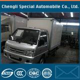 2 차축 1000kg 작은 4X2 유형 화물 밴 경트럭