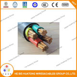 Câble d'alimentation de cuivre 0.6/1kv 3core 50mm2 de PVC