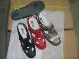 Sandali molli delle donne del Comfortable della signora Leather Wedge Aprire-Piantare
