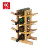 Estante de bambú del almacenaje del vino del estante de visualización del vino rojo del estante del vino de 12 botellas