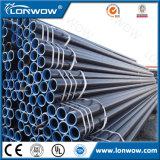 Tubo de acero negro cubierto cinc de ERW hecho en China