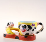 Bonitinha 3D Hand-Painted Ceramic Cup Copa do animal