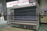 Refrigerador famoso del caso de visualización de la cortina de aire