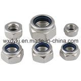 Écrou de blocage A2-70 en nylon Hex de l'acier inoxydable 304 DIN 985