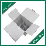 손잡이를 가진 백색 물결 모양 판지 상자