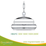 Luz elevada do louro do diodo emissor de luz do armazém da fábrica do UFO 50W 100W 150W 200W
