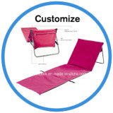 Tapete gratuito para a praia de areia de dobragem cadeira com almofadas de cabeça