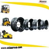 4.50-12 5.00-12 6.50-12 8.00-12 rotelle d'acciaio spaccate dell'orlo per le macchine industriali