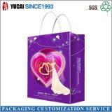 Bolsa de papel púrpura elegante para ir de compras