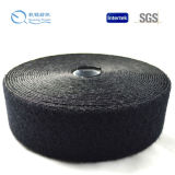Crochet et boucle noirs en nylon de couleur