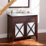 Шкаф ванной комнаты тщеты ванной комнаты отделкой Fed-1870 Mahogay