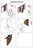 黒い二重列のドアの炭素鋼のハードウェアのアクセサリ