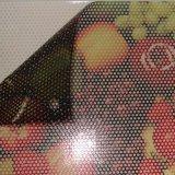 Etiqueta engomada unidireccional de la visión de la película perforada reutilizable auta-adhesivo comercial