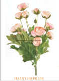 2017装飾のための美しい人工花のプラスチック絹ファブリックハンドメイドの花
