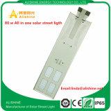 Catalogue des prix solaire de réverbère de la fabrication 80W DEL de la Chine pour la lampe de jardin