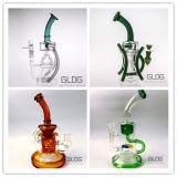 12 Zoll-Borosilicat Handblown Recycler-Schloss-rauchendes Wasser-Glasrohr