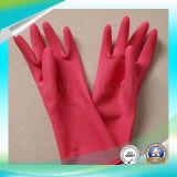 Luvas de trabalho do anti ácido do látex para o material de lavagem com o ISO9001 aprovado