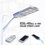 Iluminación al aire libre de la alta del lumen de calle batería reemplazable solar integrada de las luces