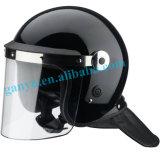 얼굴 방패를 가진 안전 헬멧이 경찰에 의하여 폭동을 일으킨다