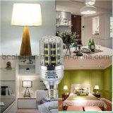 La luz E14 5W del maíz del LED refresca la lámpara de plata blanca del bulbo de la carrocería LED del color