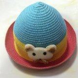 100% бумаги соломенной шляпе, Мода Медведь Стиль с группой украшения для детей