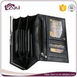 Бумажники женщин PU новой черноты типа кожаный с гнездами для платы