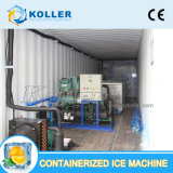 Integreren-ontwerp 2 Ton/de Dag Containerized Machine van het Blok van het Ijs met Koude Zaal
