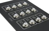 Il comitato di alluminio degli interruttori di risistemazione del pulsante di modo AC/DC di Iztor 12 con rapidamente connette Terminals-15A 12PCS