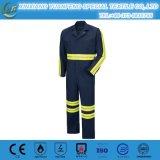 防水消防士のつなぎ服のスーツ、つなぎ服100%年ポリエステル、高品質の消防士のつなぎ服の