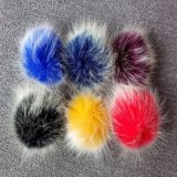Catena chiave della pelliccia POM della decorazione di falsificazione della sfera sintetica poco costosa della pelliccia
