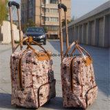 Trolley Travel Bag Mala de couro PU Bolsa de bagagem dos desenhos animados Negócios