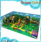 Campo de jogos interno do fabricante dourado de China para Preschoolers com corrediças múltiplas