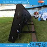 Indicador de diodo emissor de luz ao ar livre do perímetro do estádio da cor P10 cheia para anunciar
