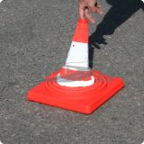 Rote flexible ABS einziehbare Sicherheits-Plastikkegel