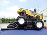 膨脹可能なレースカーの障害、膨脹可能な車Boucerの子供のための膨脹可能な跳躍車の警備員