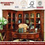 Pirce barato de madera maciza Estantería de diseño (GSP9-027)