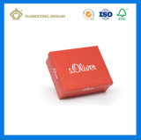Caixa de sapatas de empacotamento de papel personalizada alta qualidade da caixa (com impressão de cor)