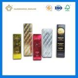 Rectángulo de empaquetado cosmético de lujo de Skincare del oro del papel de encargo de la tarjeta (fábrica de empaquetado grande de la impresión)