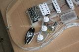 Musique de Hanhai/guitare électrique acrylique avec 7 éclairages LED de couleurs