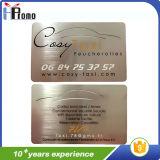 주문 스테인리스 구리 또는 알루미늄 금속 기업 이름 카드
