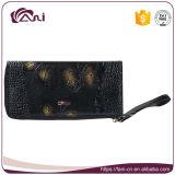 Бумажник неподдельной кожи цветов Fani 3 напечатанный бабочкой